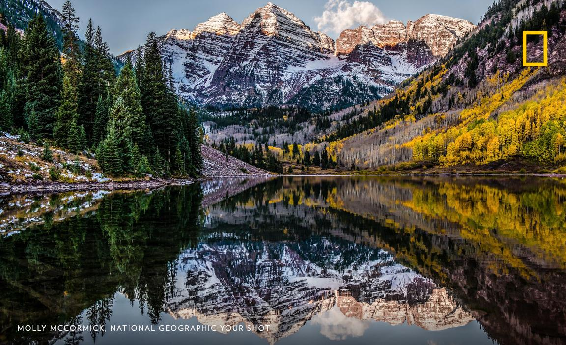 Maroon Bells Colorado Molly Mccormick : morning infamous