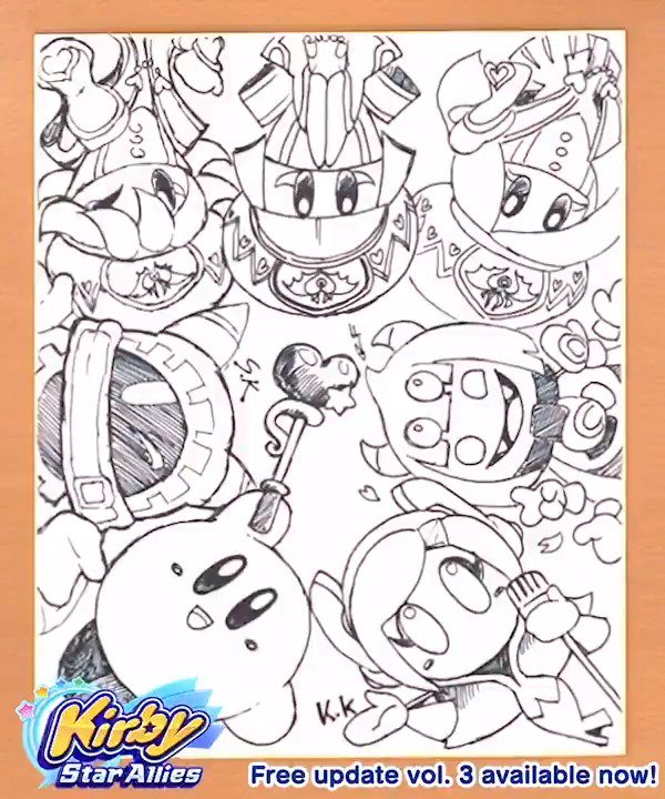 Kirby Star Allies Coloring Pages Coloring Pages