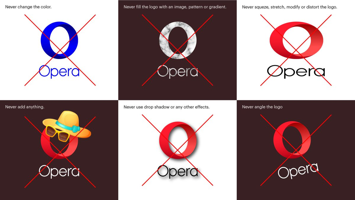 Please do not put an adorable hat and sunglasses on the Opera logo.