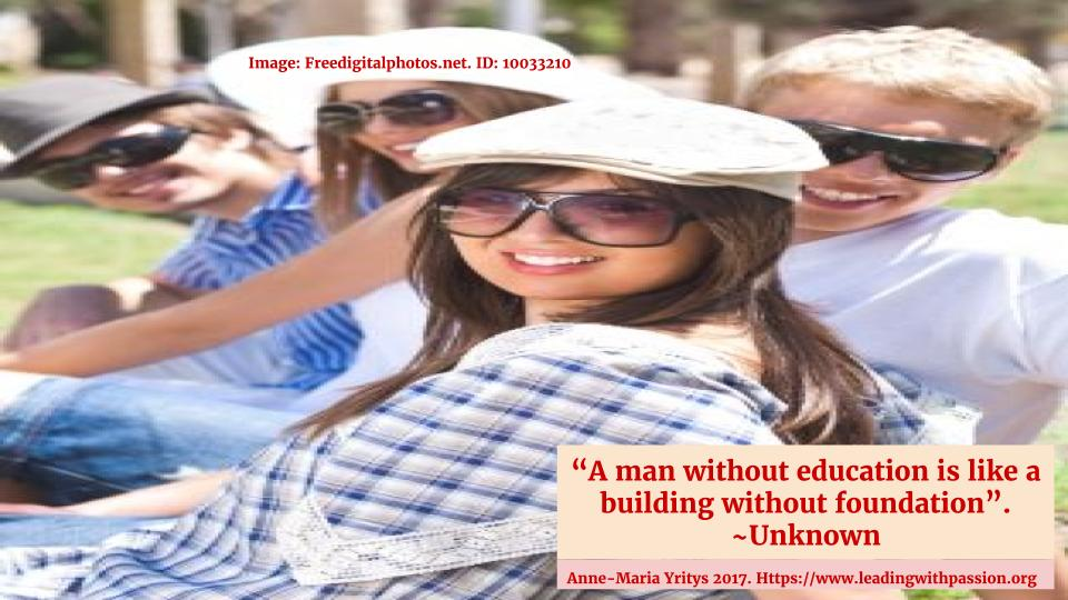 """A man without education is like a building without foundation"".  http://bit.ly/EDUCATION111  #leadership #communication"