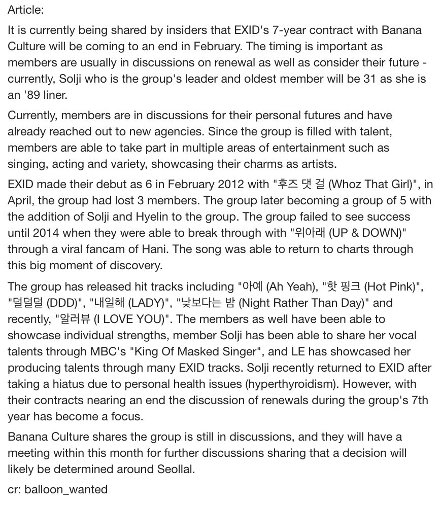 Update: Knetz Reacts] EXID's future | allkpop Forums