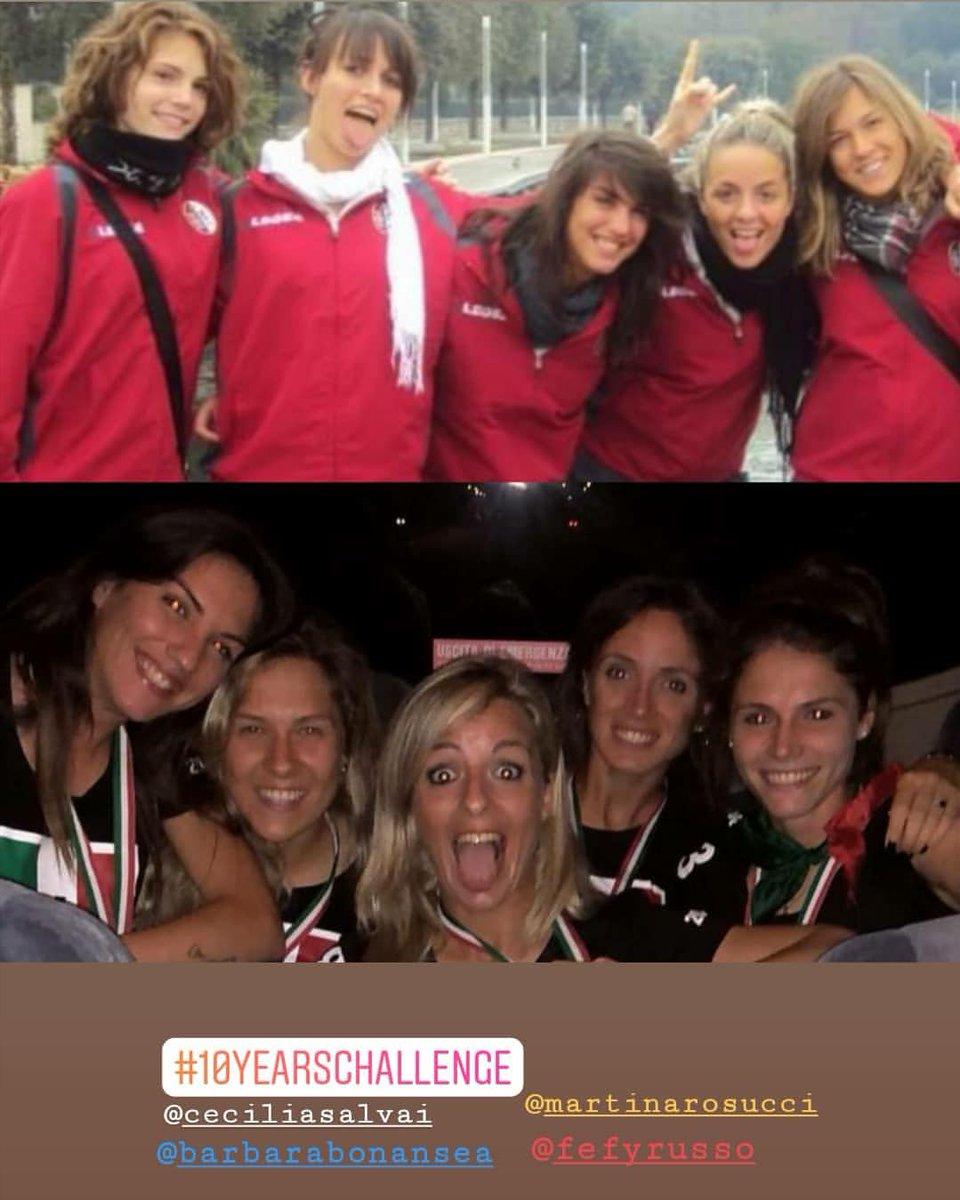 Michela Franco e #10YearChallenge com as companheiras da #JuventusWomen 😊😄⚫️⚪️ (via Instagram)