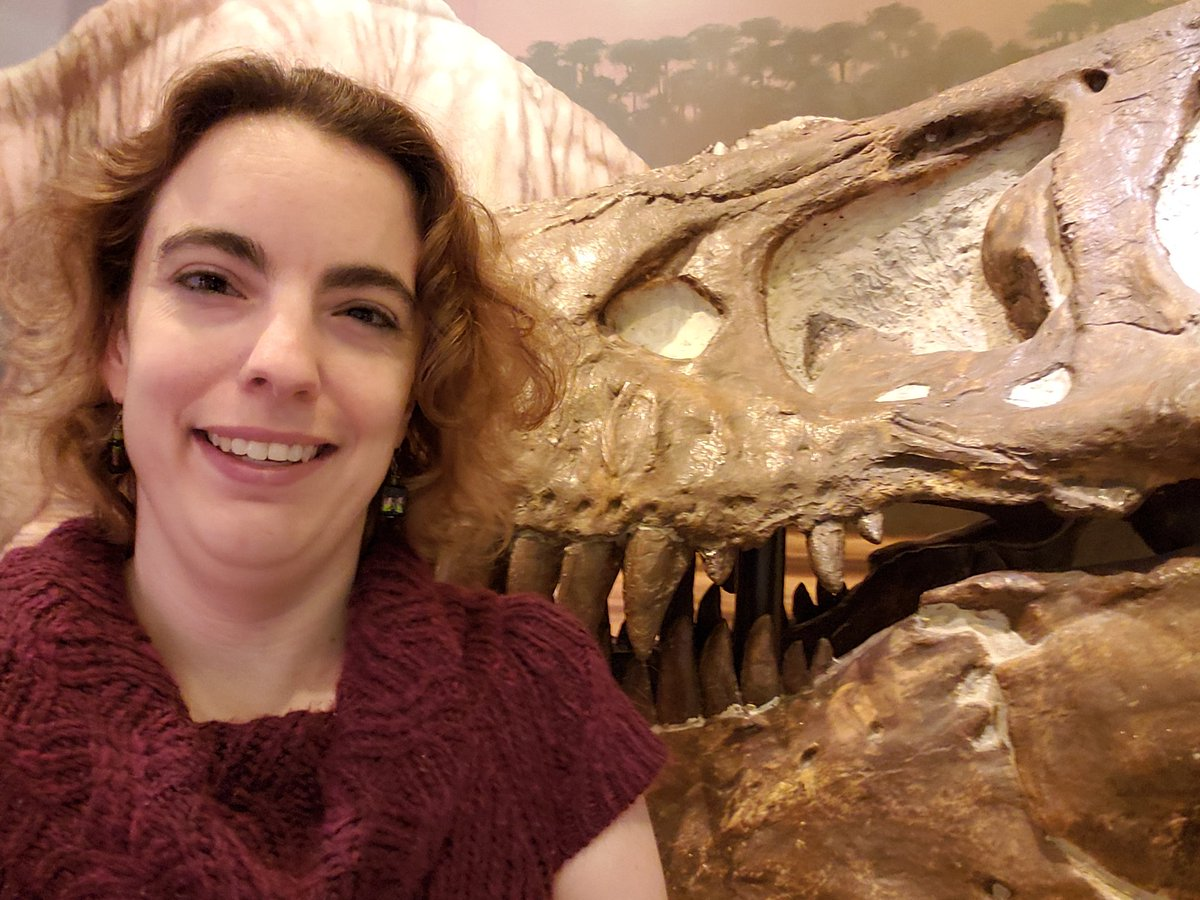 Happy #MuseumSelfieDay!  Who knew that the animal behind me, Tyrannosaurus rex, would leave behind so many fascinating pieces of Cretaceous ecology in its droppings?  A fossil dropping - or #coprolite - is more than evidence of a last meal. They can preserve amazing impressions!<br>http://pic.twitter.com/OFYBHFkyoZ