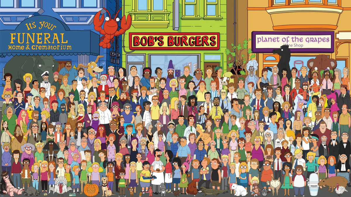 Okay, look at this madness! One very talented and patient Bob Jacobson has drawn up nearly every Bob's character that's had a speaking line on the show! This is INSANE! Seriously amazing work. Even as recent as Kathleen from last week. Full res PFD here: https://www.dropbox.com/s/h9vzqrhyfhe4air/Cast.pdf?dl=0&fbclid=IwAR1dm6kkG2Z5PMGSPya0BsoOZepntllXaH6tnAjG8334is9_li2GLrgnUlo …