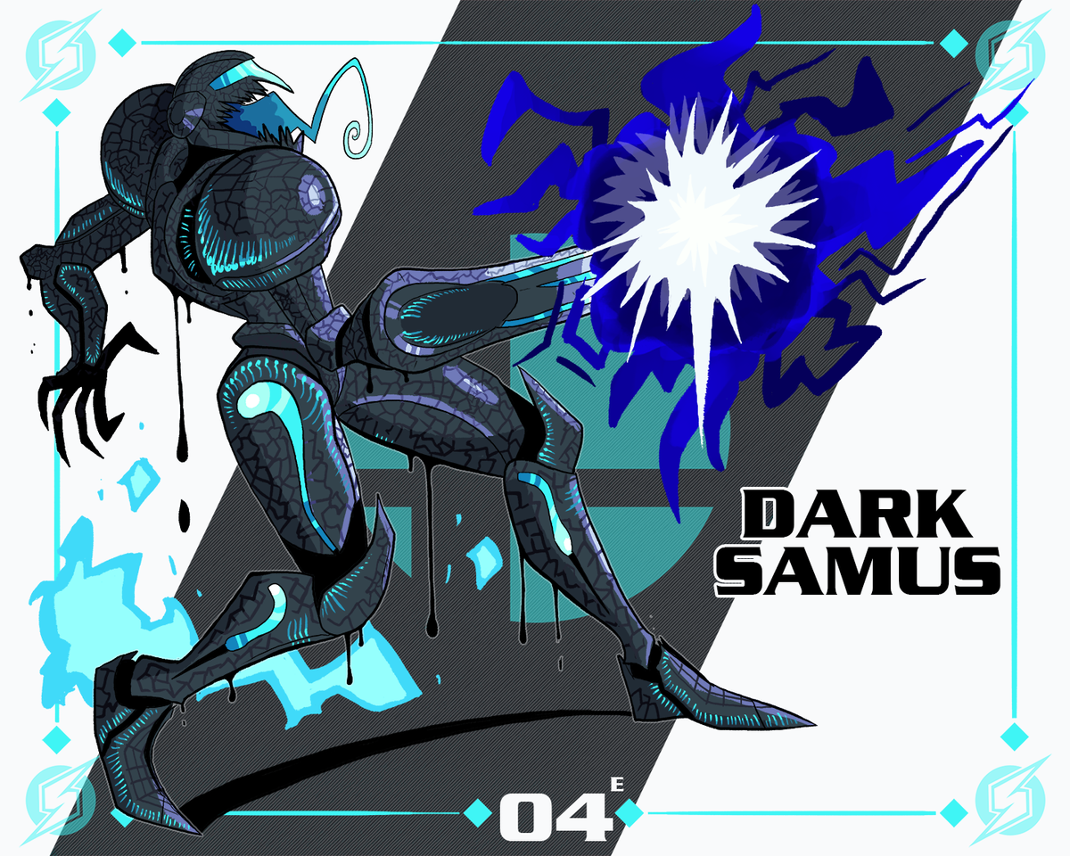 Samus faces Dark Samus using a charge shot, meanwhile Dark Samus counters! ...with another charge shot. Hmm... #SmashBrosUltimate