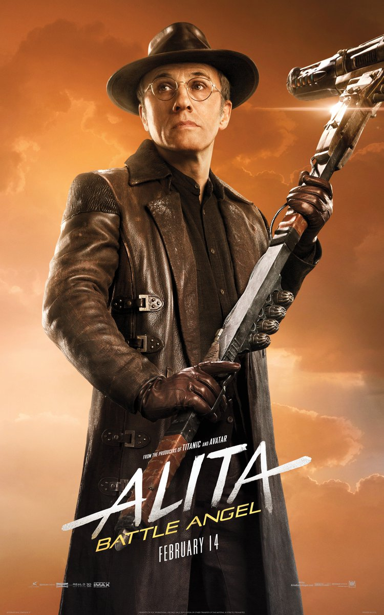 ALITA: BATTLE ANGEL Character Posters Spotlight The Heroes And