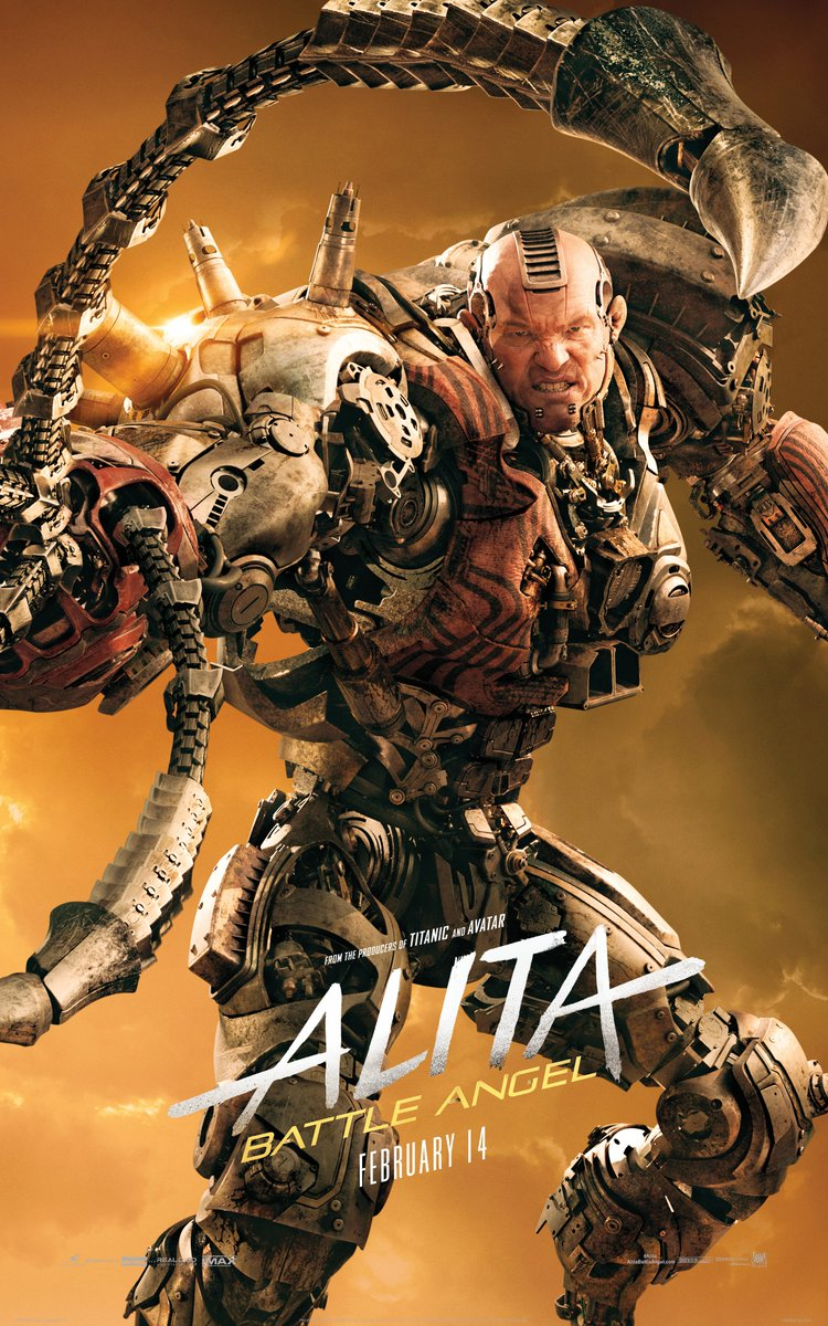 Alita Battle Angel Character Posters Spotlight The Heroes And