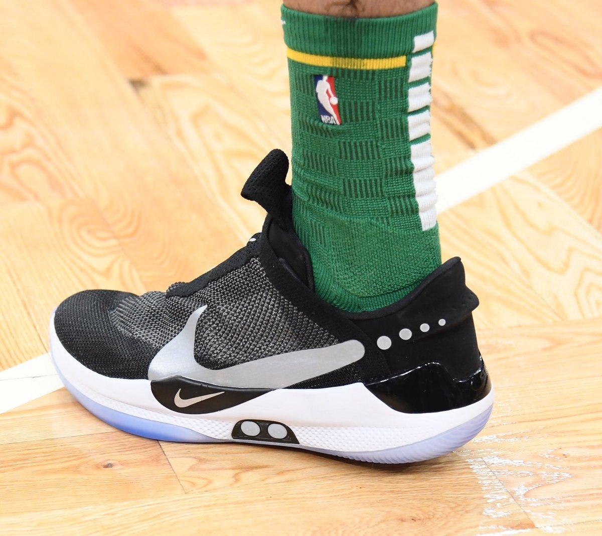 Jayson Tatum debuting the Nike Adapt BB