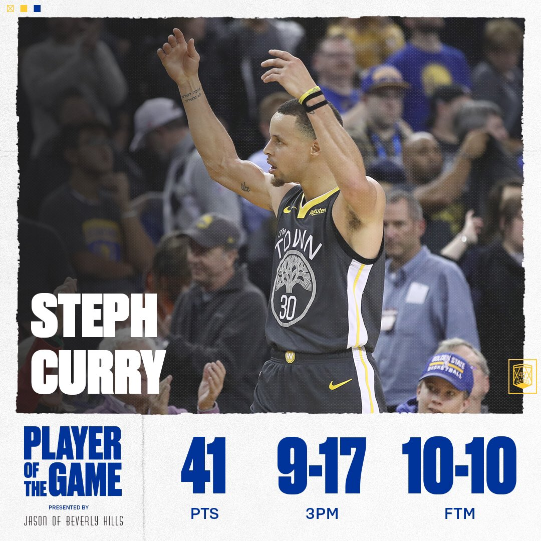 📝   Steph is the first player in NBA history to hit at least eight three-pointers in three-straight games. https://t.co/l1nADvQEKO