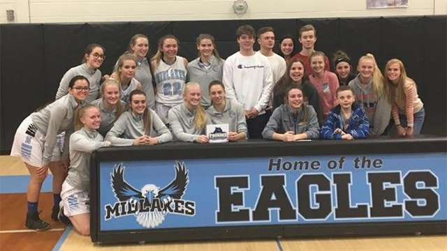 W-FL WEDNESDAY: Alaina Forbes ties school record with 41 & announces college choice as Midlakes beats Waterloo