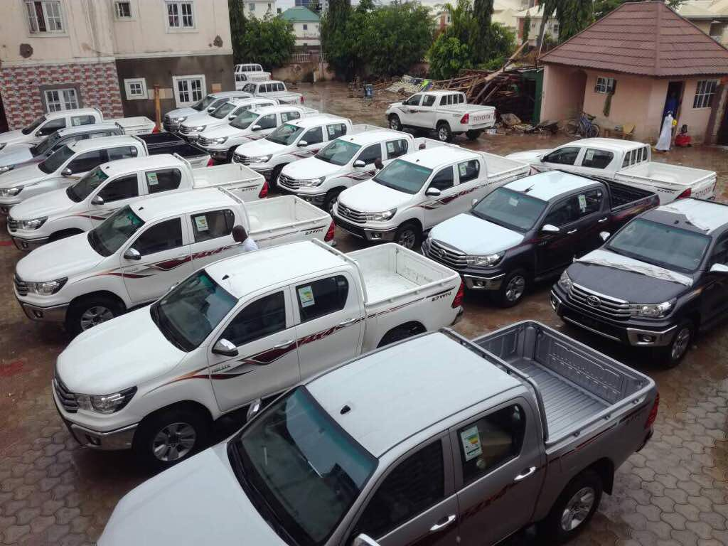 100 units of brand new 2018 hilux for sale.  Location: Abuja   Price: 16M each  DM or call 09034479856 for inquiries.   Kindly retweet please    God bless you all. <br>http://pic.twitter.com/jdjADQ2VWi