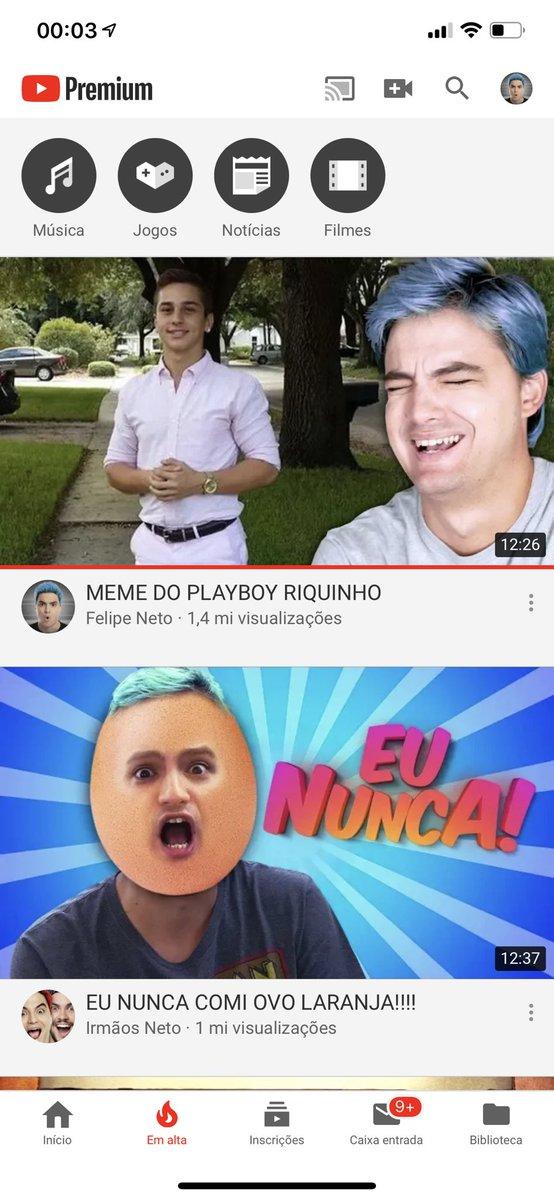 E esse Em Alta do Youtube gente