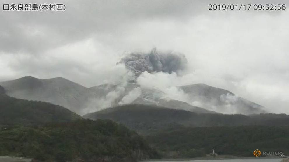 Volcano erupts in southern Japan https://t.co/TOtS5CpvTw