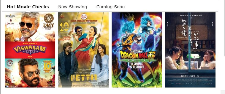 For the 1st time since release, #Viswasam moves to No.1 in &quot;Hot Movie Checks&quot; in #Malaysia &#39;s Popular  http:// Cinema.com.my  &nbsp;   Portal..<br>http://pic.twitter.com/NxQ9vjkXtx