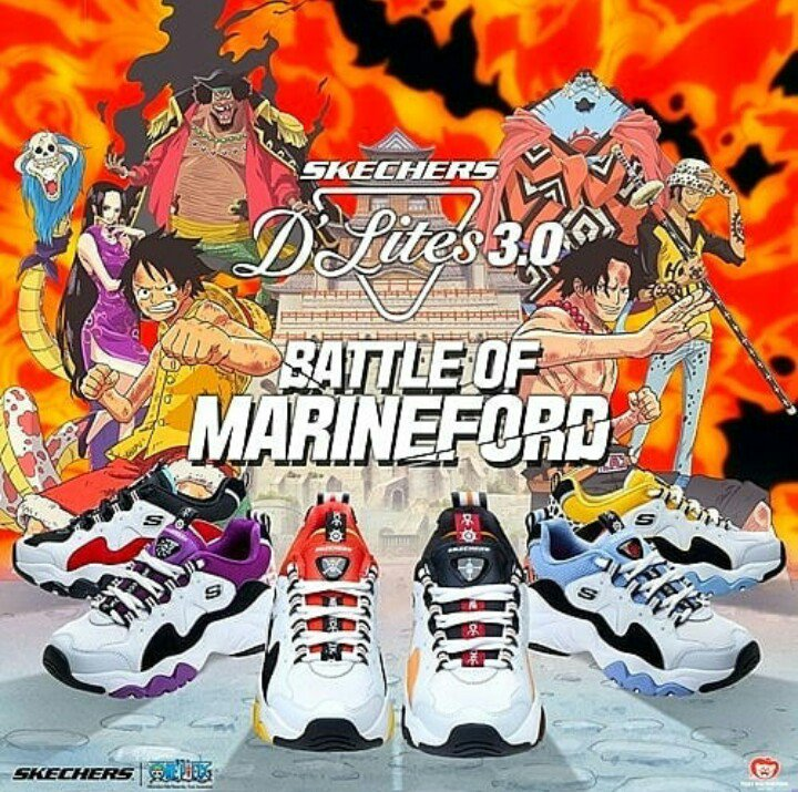 Schoenpak Moeller On Twitter Skechers X One Piece D Lites 3 0 Battle Of Marineford