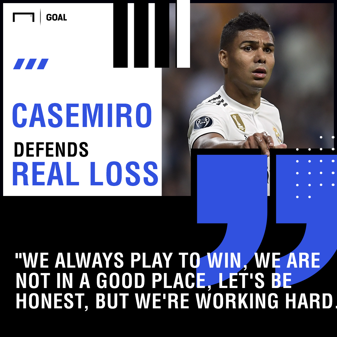 Are We Losing Play Without Purpose >> Goal On Twitter Casemiro Has Backed His Real Madrid Teammates