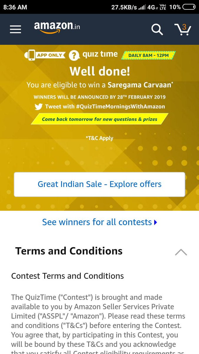 Thanks Amazon for giving me this opportunity I&#39;m a big fan of old songs  Hope this time I will win #QuizTimeMorningsWithAmazon<br>http://pic.twitter.com/2HH22poGsi