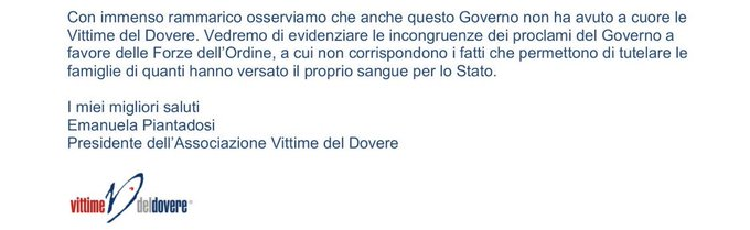 Ministri #Salvini e #Bonafede, invece che indossare le uniformi delle Forze dell'Ordine, mettetevi nei panni degli orfani! 😡 Foto