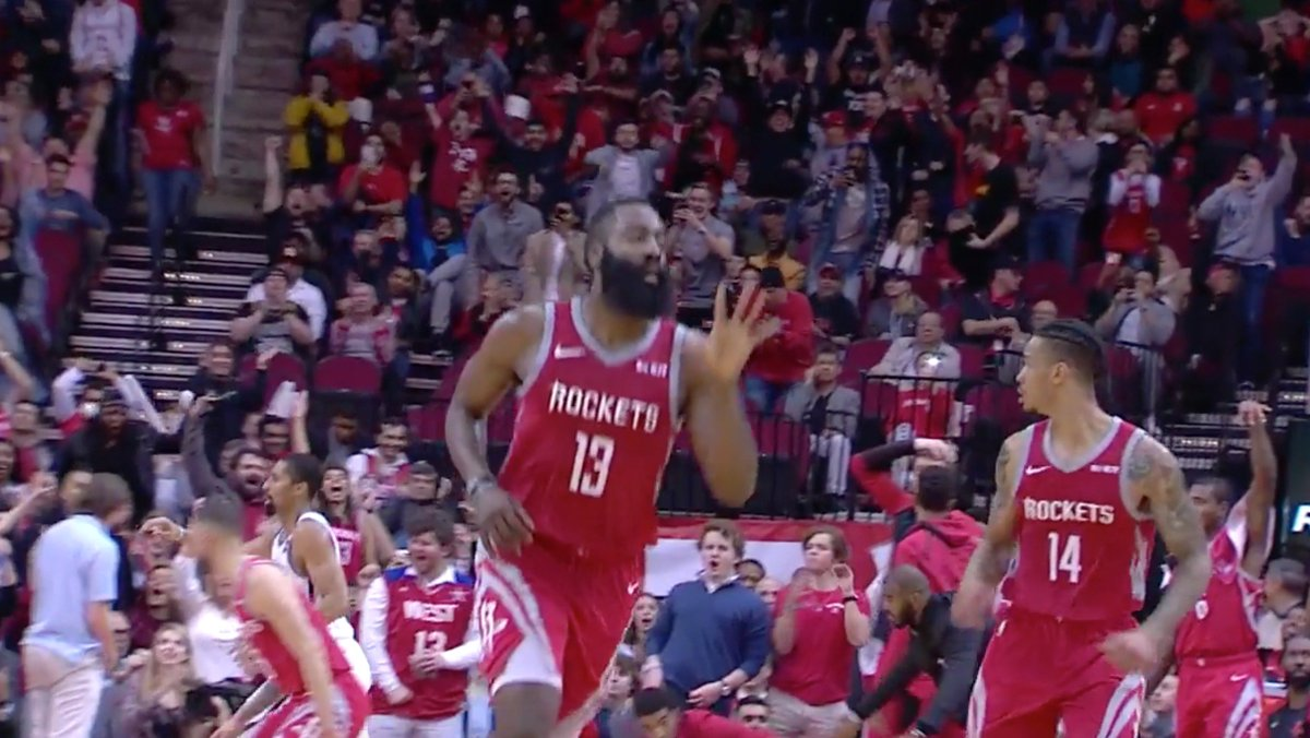 Harden's 50th point put him on SKATES
