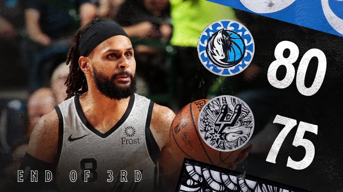 Five-point game heading into the fourth on @FOXSportsSW!  #GoSpursGo  <br>http://pic.twitter.com/qy4av3mMEh