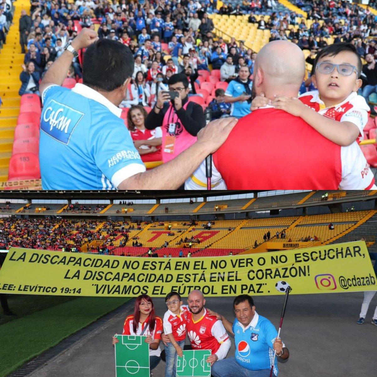 Seguimos invitado a disfrutar un fútbol en paz, gracias a @foxsportscol Oscar Gómez y por su puesto a @juanfemejiabahamon por unirse a #futbolconlapiel  Cuál es la discapacidad de tu corazón?