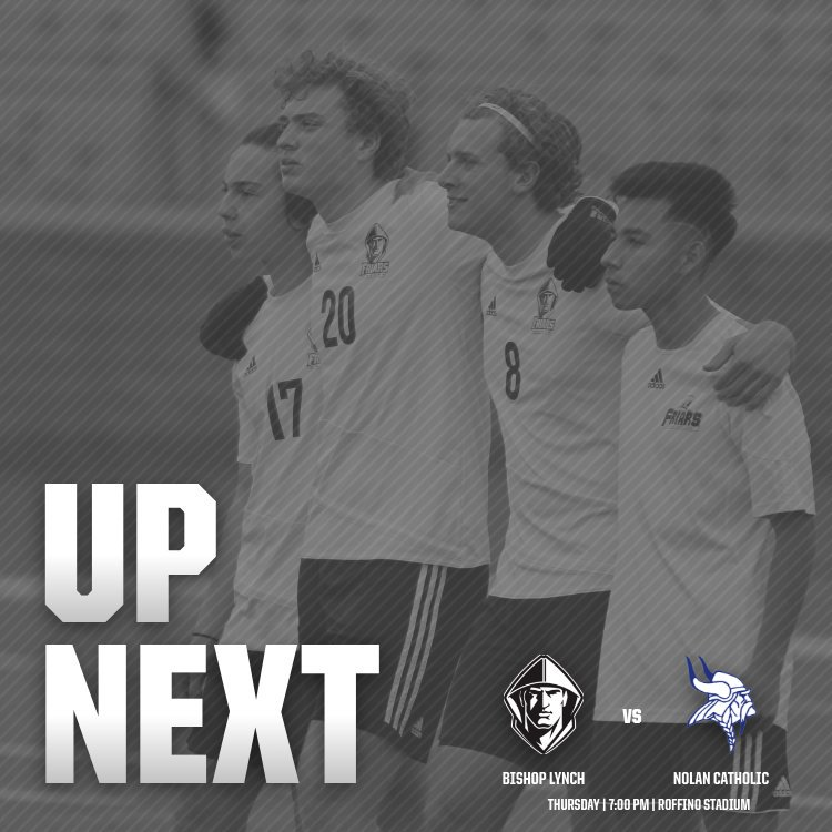 The Friars take a break from district play tomorrow and host rival Nolan Catholic at Roffino! | #NextPlay <br>http://pic.twitter.com/7AC9kLBmz6
