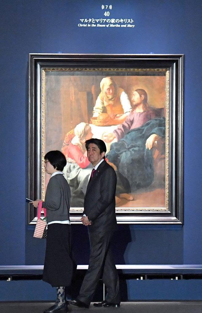 RT @jucnag: 安倍さんがフェルメール展を「視察」して「感激した」と、報道されていますが、どう見てもクソつまらなさそうなんですけど、気のせいでしょうか? https://t.co/NUA75MqP8D