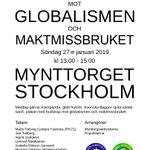 Image for the Tweet beginning: Tiden och talarlistan för demonstrationen