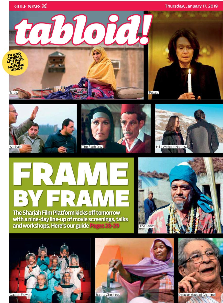 With the #SharjahFilmPlatform launching tomorrow, offering a diverse line-up of screenings and workshops, we pick 25 of the best movies to watch at this new #UAE festival. #TabloidCover  https://t.co/OorijO255X