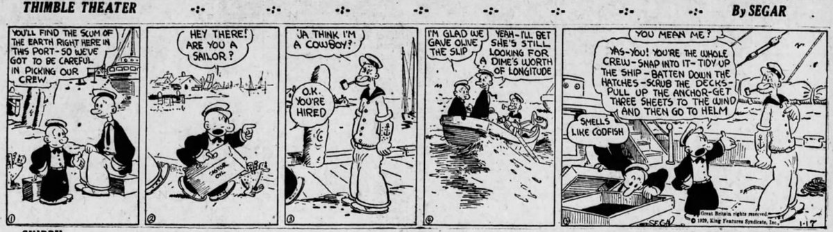 On Thursday, Popeye marks the 90th anniversary of his first appearance. https://t.co/qbCmleUqzJ