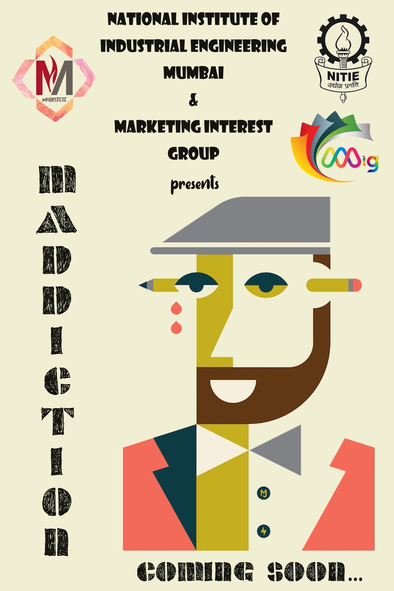 Hey Maddict-ed folks!!! It is time to quench your thirst for marketing by being part of one of the biggest marketing quizzes out there. Brace yourselves, Maddiction'19 ....coming soon  #MARKSFETE #MIG #NITIE https://t.co/lsU73CxakI