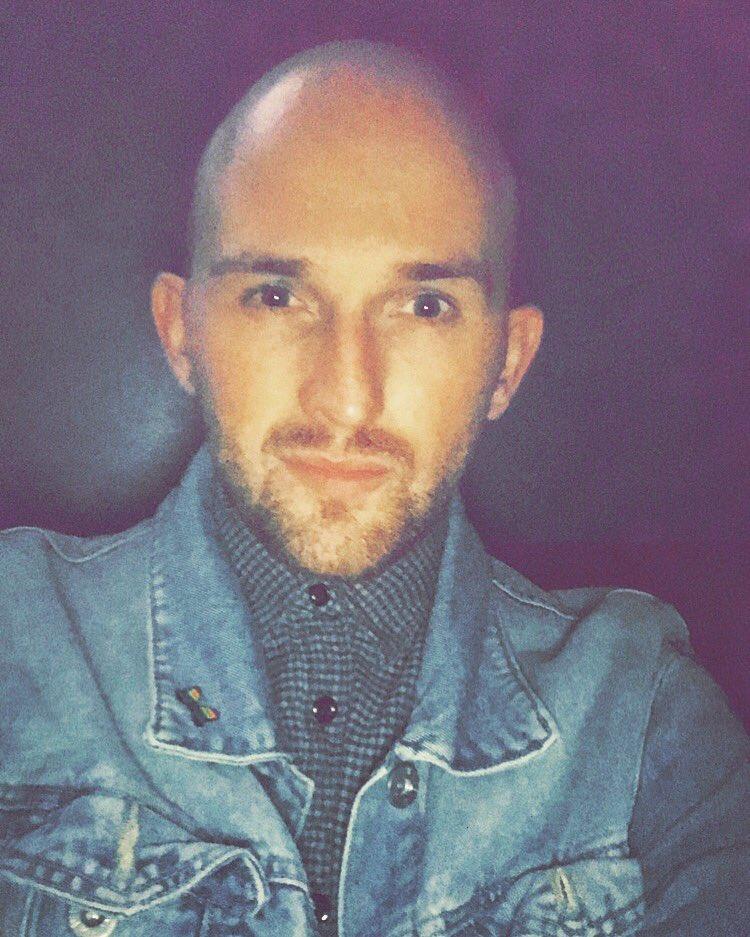 Double denim #baldy #gay #doubledenim