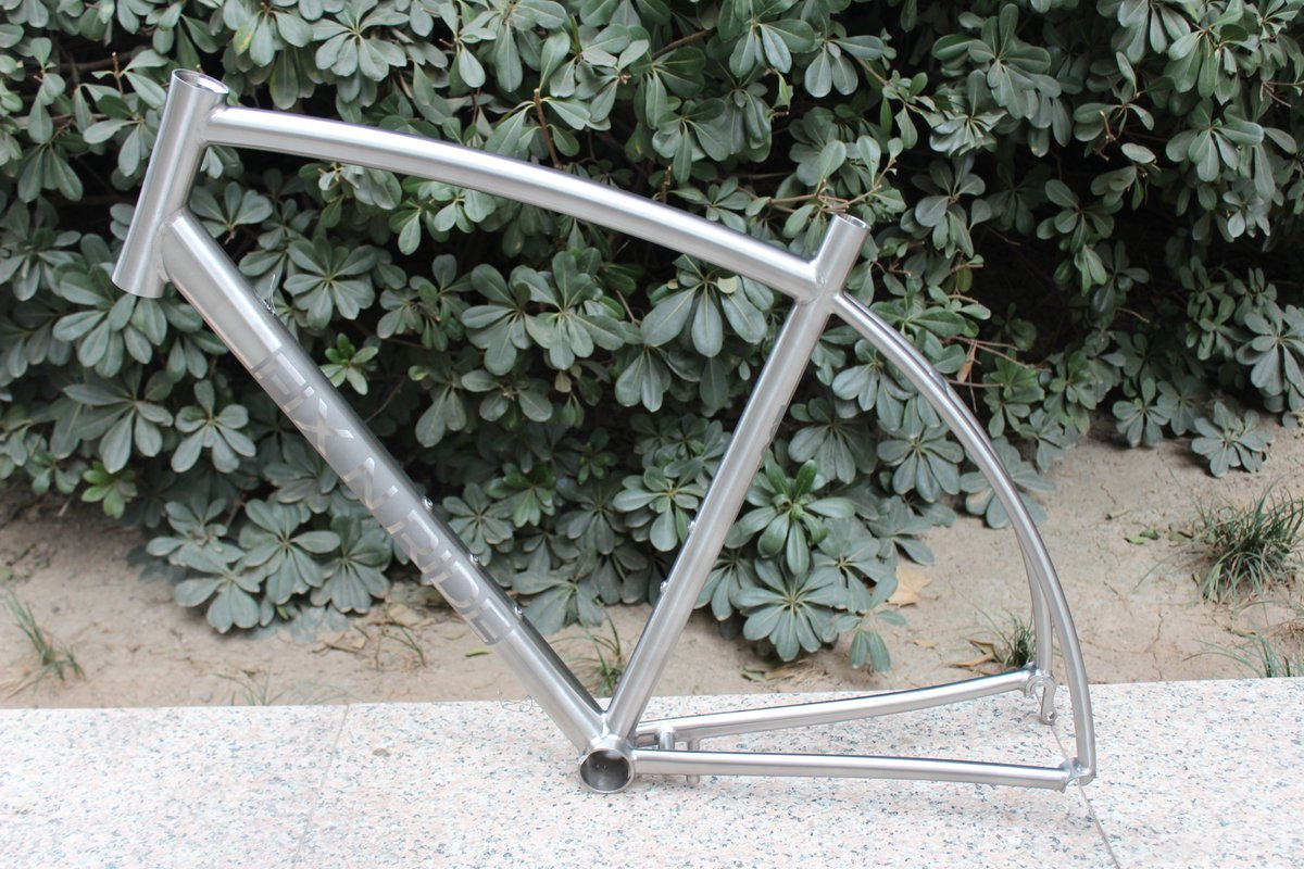 855dc0810adc XACD made Titanium gravel bike frame  which made with Integrated head tube