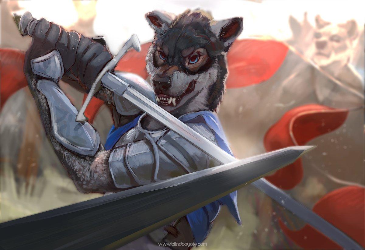 Sword fighting is a LOT of fun #Furryart by @blindcoyoteart  https://www. furaffinity.net/view/28849434  &nbsp;   #Furry #Furry #FurryFandom <br>http://pic.twitter.com/92w4NhZYOD
