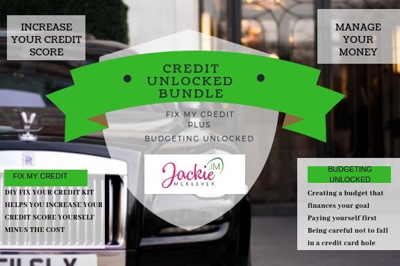 Introducing the answer to you credit issues. The Credit Unlocked Bundle. Go to http://JACKIEMCKEEVER.COM  for more info. #rebuildcredit #creditapproved #improveyourself #workwithme#creditmatters #fixyourcredit #budget #homeowner #goals #fixmycreditfast