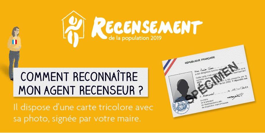#RP2019 Votre agent recenseur doit pouvoir vous présenter une carte officielle. Un doute ? Contactez votre #mairie #fraude #securite 👉 https://www.le-recensement-et-moi.fr/rpetmoi/et-pour-moi…