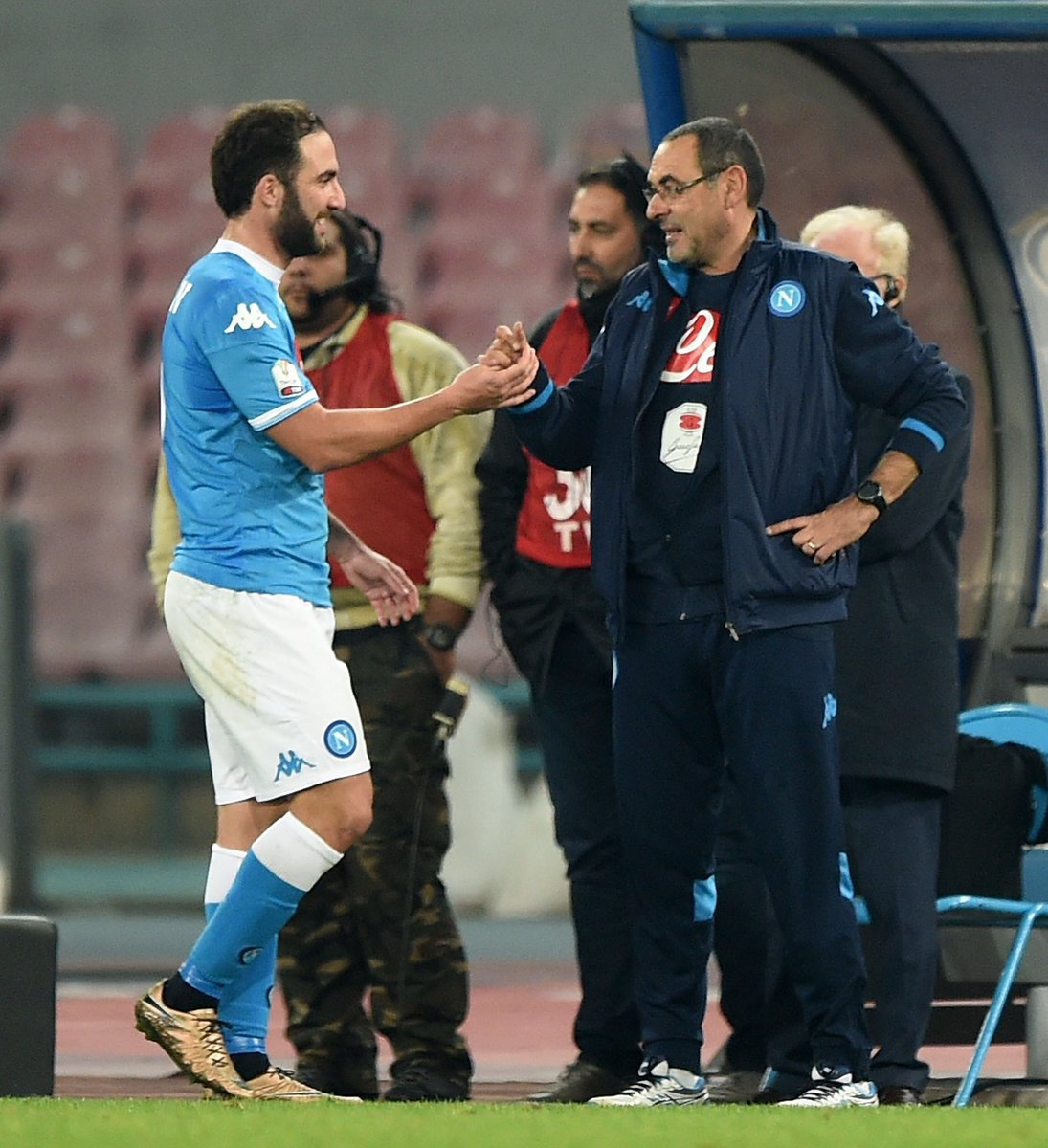 No player in Serie A history has scored more goals in a single season than Gonzalo Higuaín in 2015/16 for Napoli.  🔵 35 games ⚽️ 36 goals  All under Maurizio Sarri.