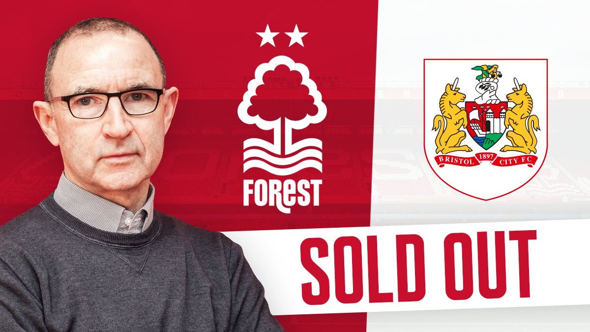 Sell out on Saturday!  There is set to be a fantastic atmosphere on Trentside as #NFFC fans have snapped up all of the tickets available to see Martin O&#39;Neill&#39;s first game in charge of The Reds against Bristol City. <br>http://pic.twitter.com/D81MbuR6UP