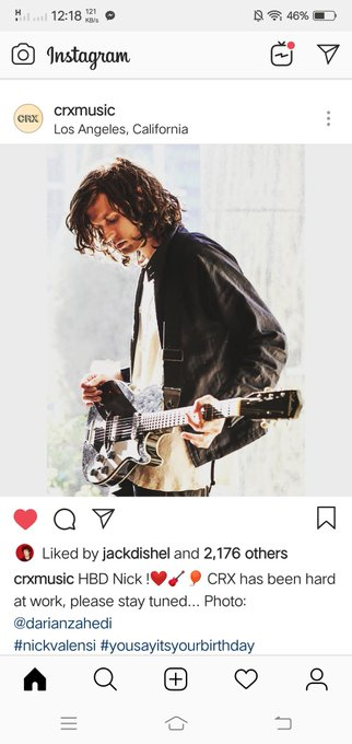 Happy Birthday Nick Valensi! My guitarist hubby to more birthdays of us with each other. (I am such a feeler lmao )