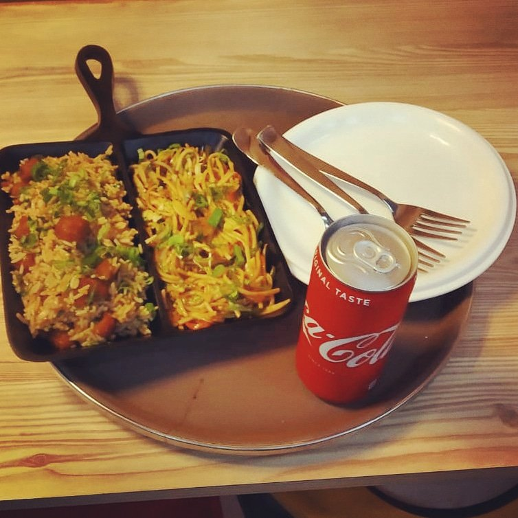 Missed your #lunch ?? No problem head to Monro Cafe and grab our quick #Chinese combo.  #Noodles + #Manchurian fried Rice + #Coke a perfect #meal on busy #Thursday  #MonroCafe - An Opening that Connects!  #ahmedabadfood #ahmedabadfoodie #ahmedabadfoodies #ahmedabadfoodblogger #