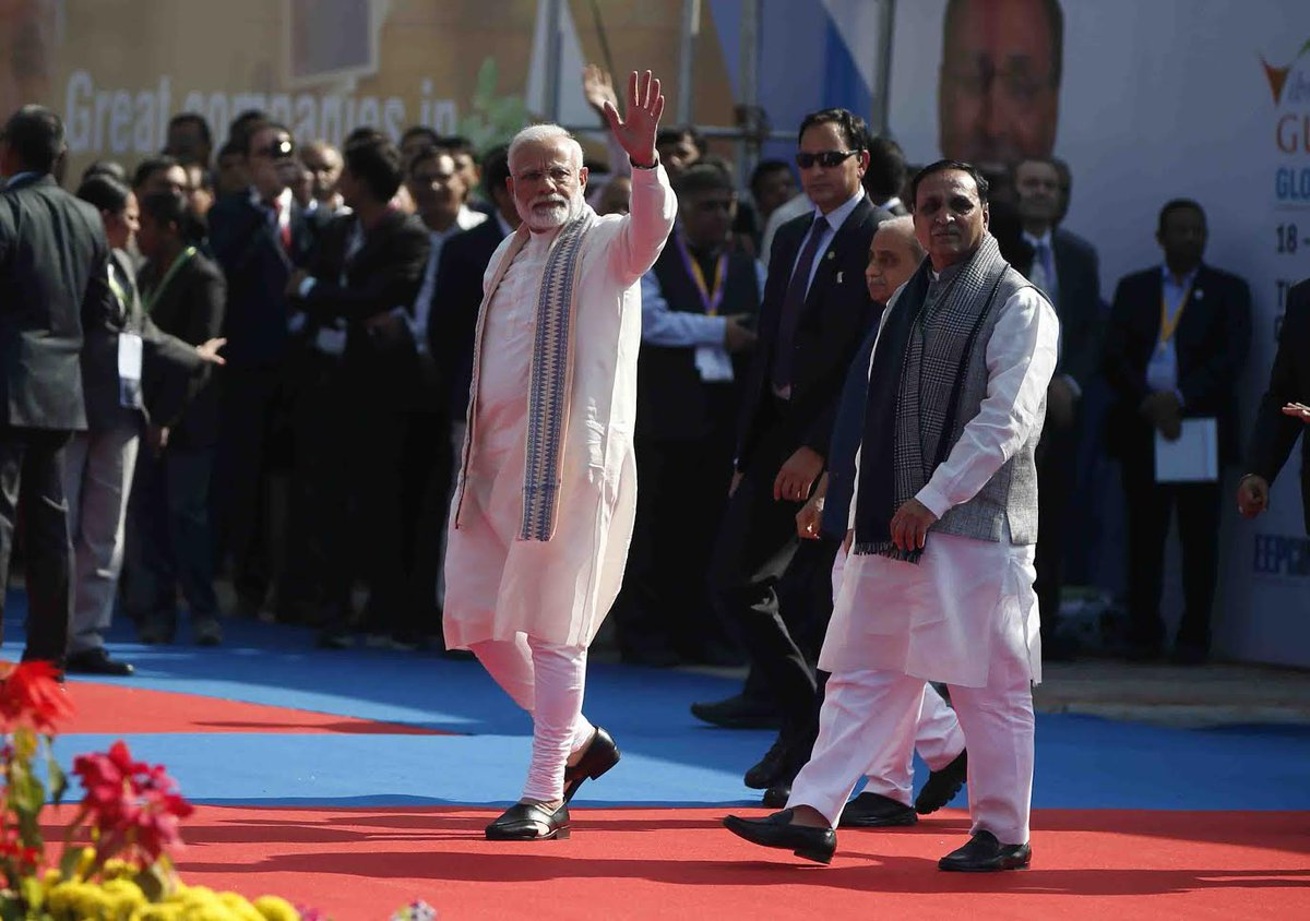 Global Trade Show- the flagship event in the run up to Vibrant Gujarat Summit inaugurated by PM
