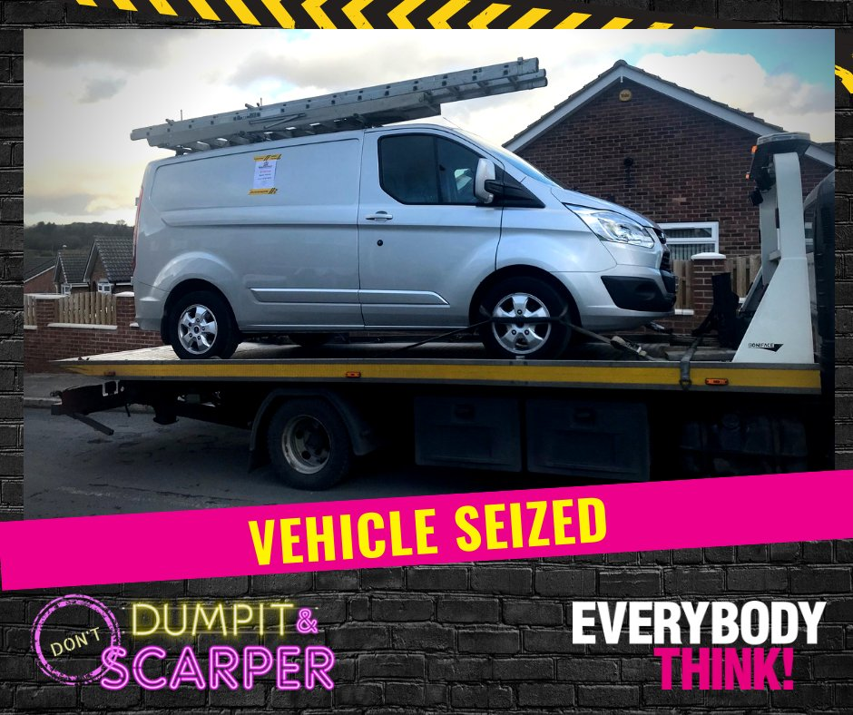 Our enforcement team seized another vehicle for suspected fly tipping! The investigation is underway👀 #EverybodyThink
