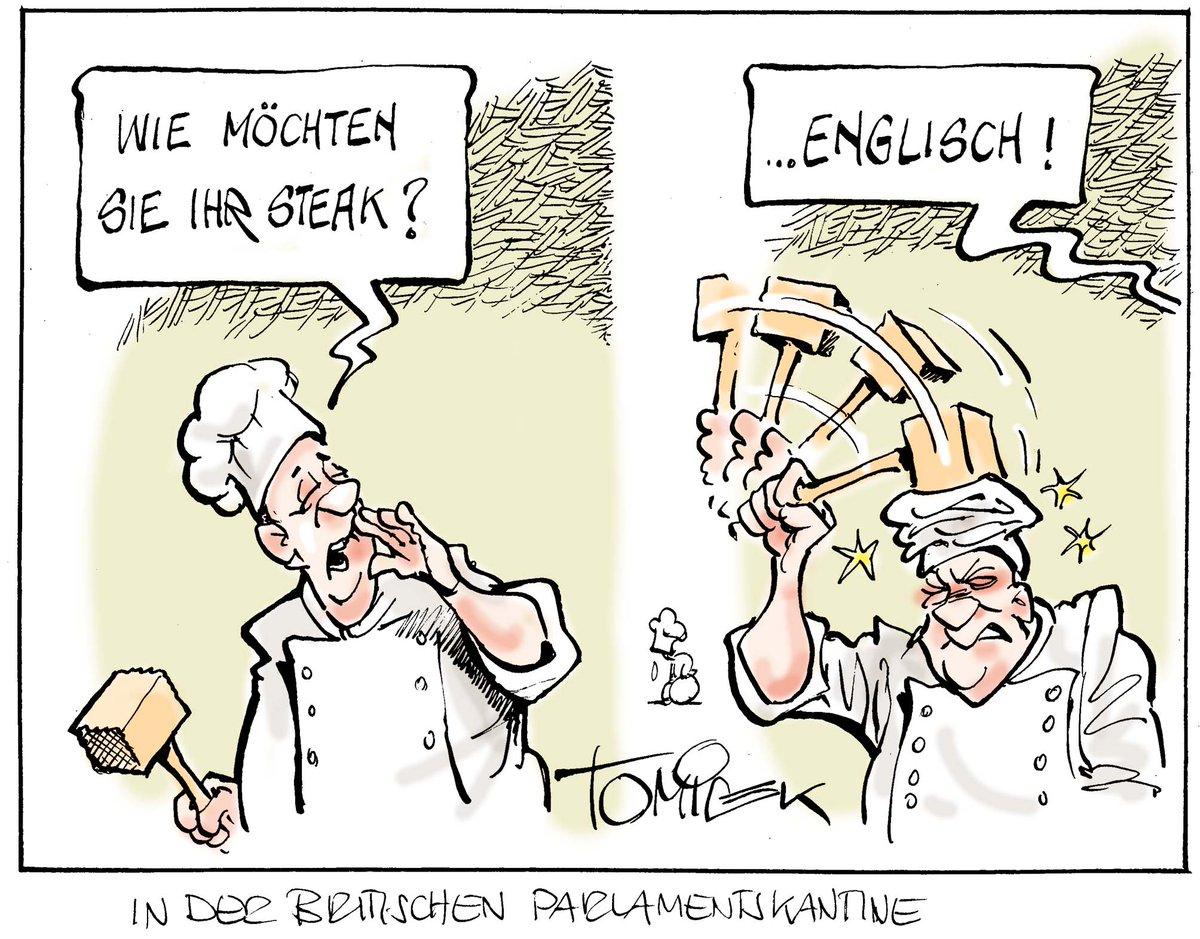 In der britischen Parlamentskantine (Cartoon Tomicek) #BrexitChaos