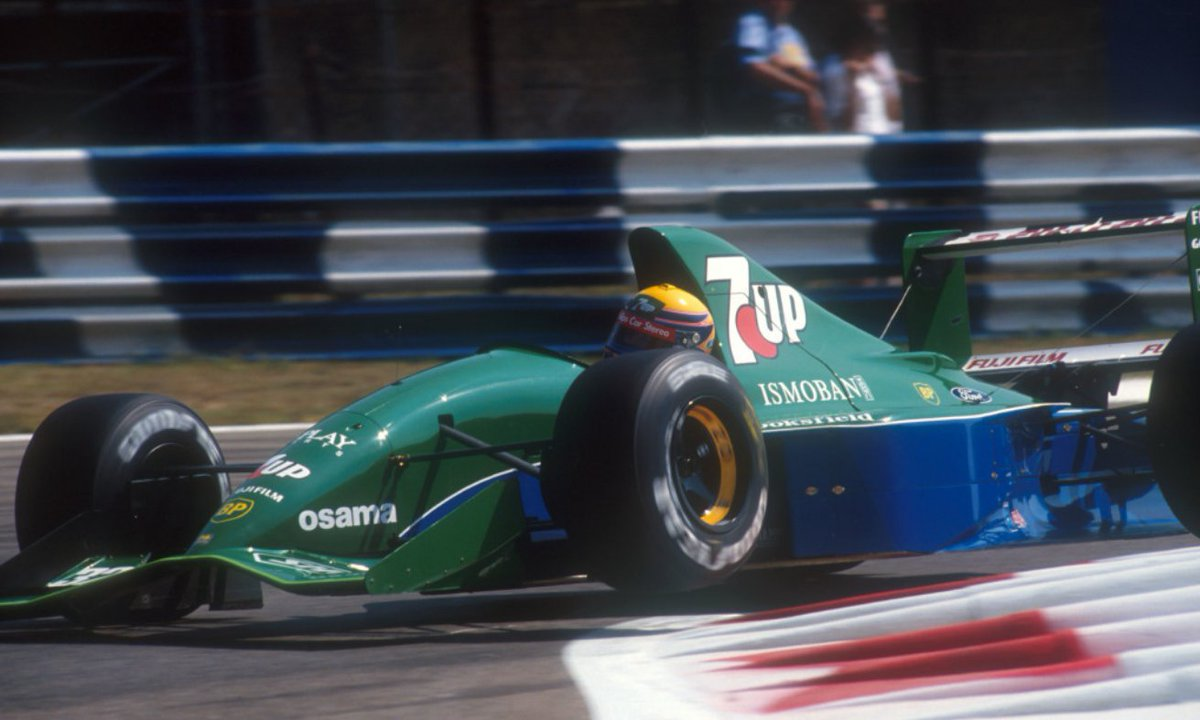 Roberto Moreno, 7UP Jordan 191 - Ford HBA4 3.5 V8. GP Monza 1991. #F1 <br>http://pic.twitter.com/Yvvfv4Tp2n