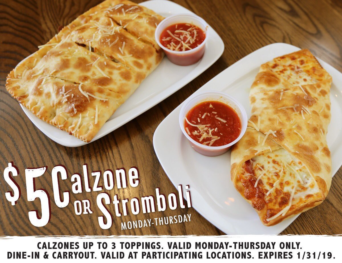 Retweet if you're getting a  $5 Calzone or Stromboli today! <br>http://pic.twitter.com/E2Edsoi4lc