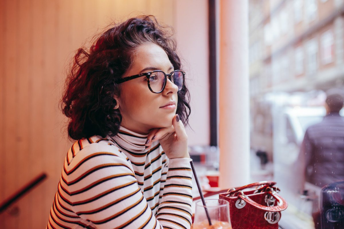f1d6fb5d2f1 Blogger Hayleigh wears the optical version of the trendy Ray-Ban Hexagonal  frames. Shop now  http   bit.ly 2FwzFH6  eyewear  glassesdirect  glasses   specs ...