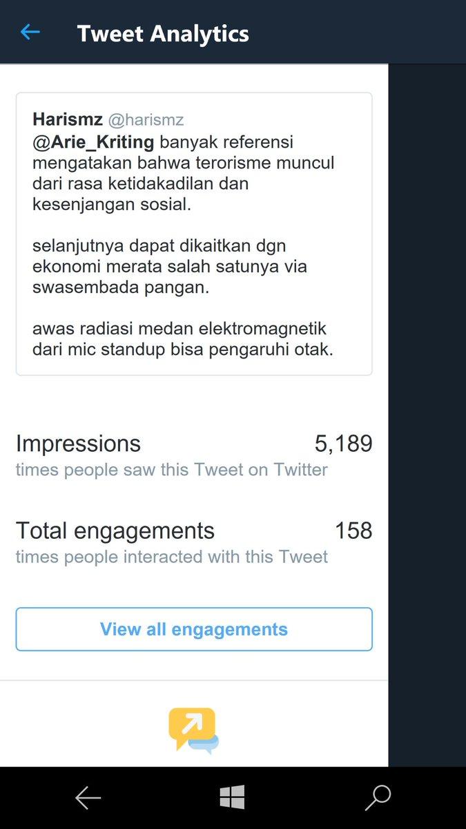 lihat impressions mensyen gw ke salah satu seleb pro 01, dapet 5000+ #JihadHarismz