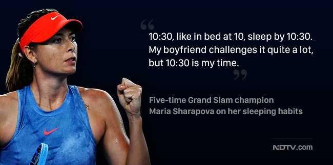 #AustralianOpen2019: Early to bed for sleepy Maria Sharapova (@MariaSharapova) Read here: Foto