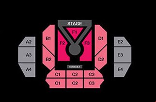 LOONAVERSE Seating chart  F1 - 120 F2 - 206 F3 - 206 B1- 154 B2 - 127 C1 - 63/120 (2 floors) C2 - 90/108 (2 floors) D1 - 154 D2 - 127  1,658 seats (each day, total attendance 3,316), both dates sold out  #LOONA #이달의소녀<br>http://pic.twitter.com/PxsKz1MwKm