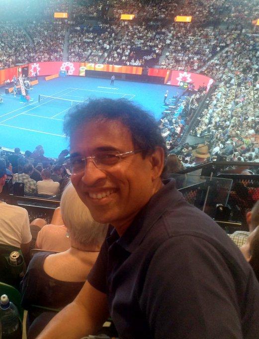 Watching Djokovic vs Tsonga. Great skill on display. #AustralianOpen2019. @Australia Foto